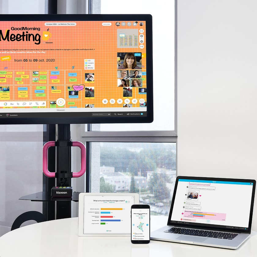 Applications collaboratives Klaxoon multi device