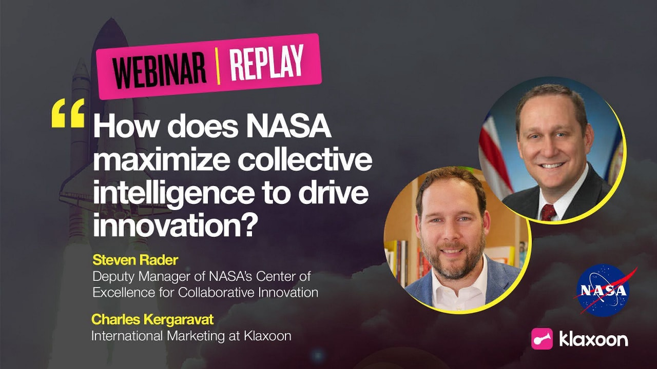 How does NASA maximise collective intelligence to drive innovation?