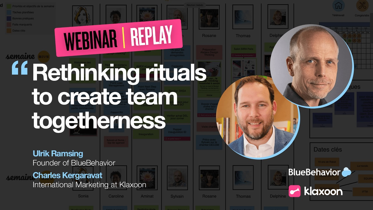 Rethinking rituals to create team togetherness