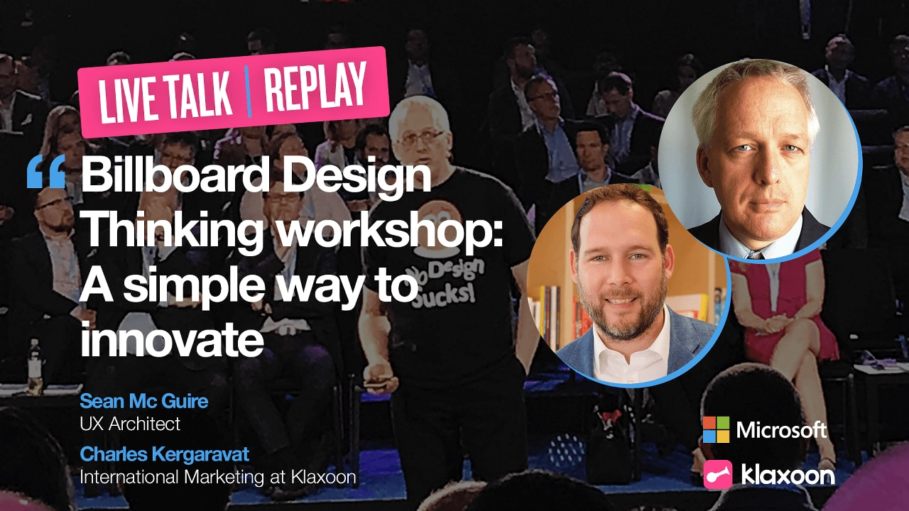 Billboard Design Thinking workshop: A simple way to innovate