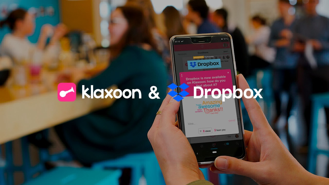 Dropbox available in Klaxoon